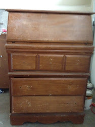 Secretary Hutch with 3 drawers $195