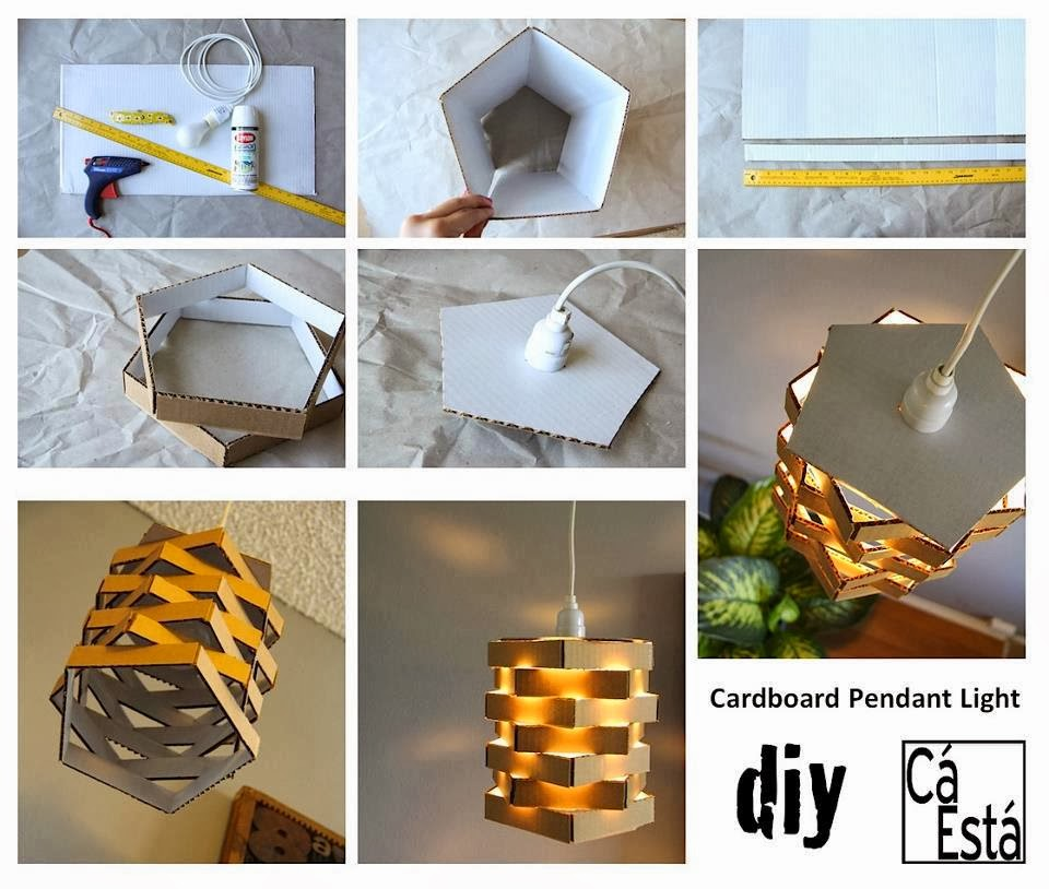 Cardboard Pendant Light: