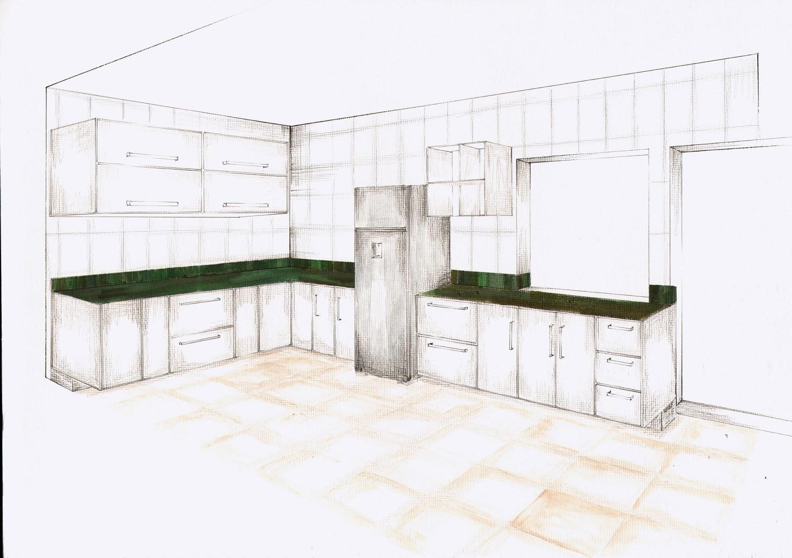 Another Image For desenhar cozinha planejada online #343E23 1600 1129