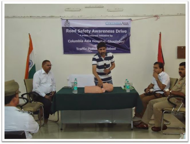 Columbia Asia Hospitals organizes a session Road Safety Awareness