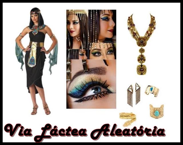 Assessórios/make para usar no halloween com a fantasia de Cleopatra