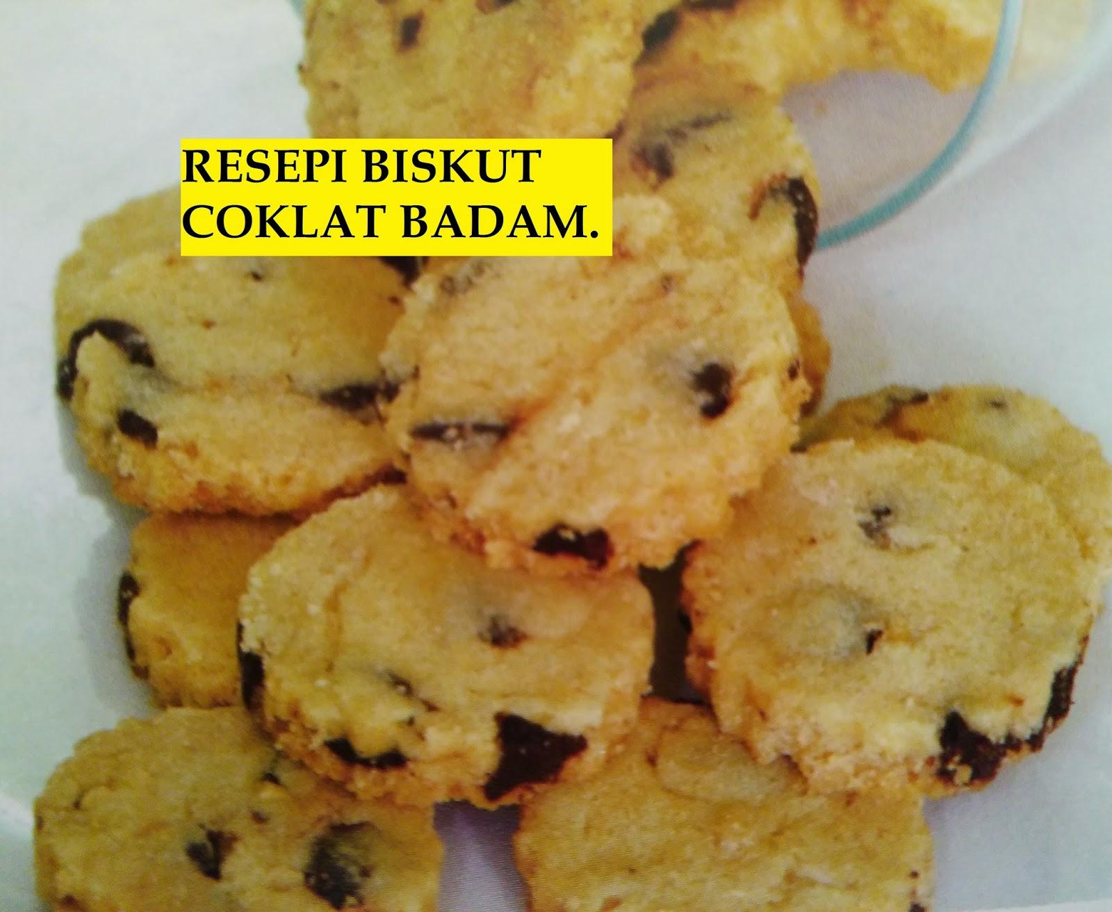 Resepi, Biskut Coklat Badam