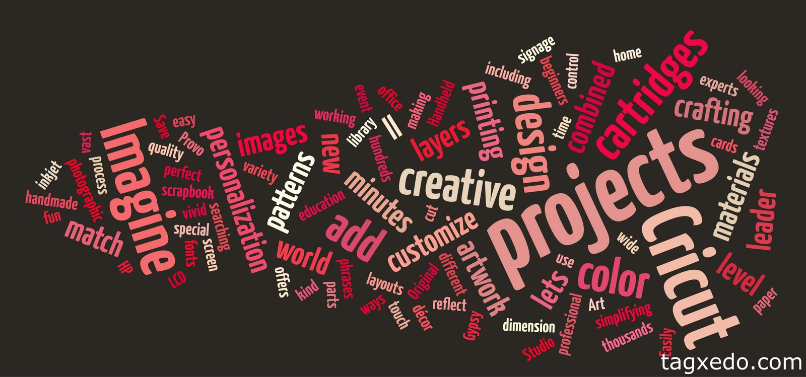 Capadia designs another great site for word clouds this site is called tagxedo and it has lots of interesting options for the image at the top of this post i used the description of the cricut imagine freerunsca Choice Image