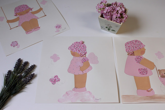 láminas infantiles personalizadas y pintadas a mano