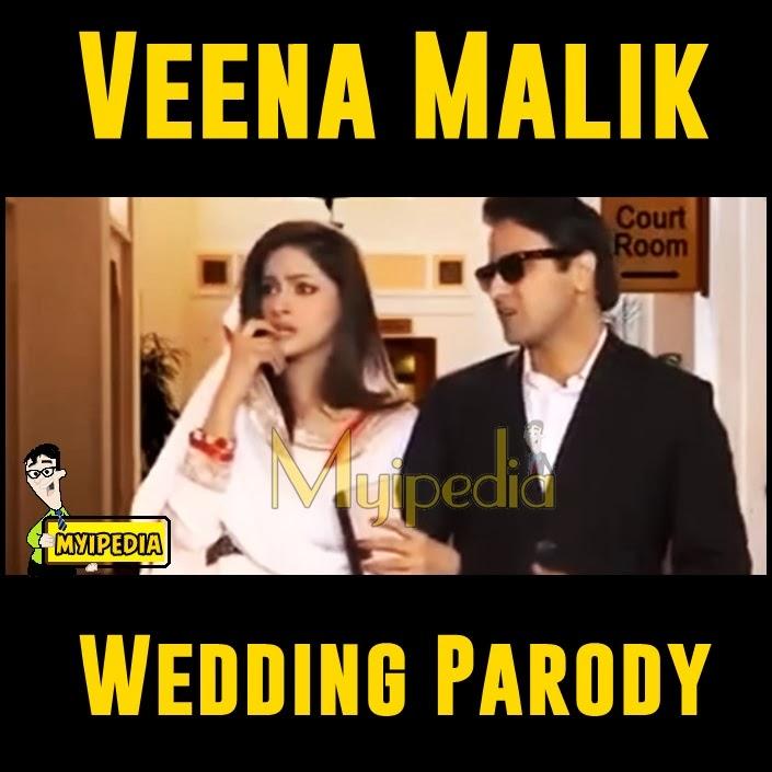 Veena Malik and Asad Bashir Khattak Wedding Parody by saba qamar on ...