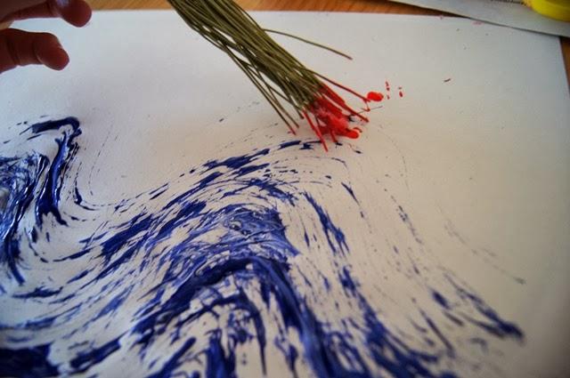 Fabuleux La forma delle nuvole: Lavoretti per bambini: dipingere con i rametti PP12