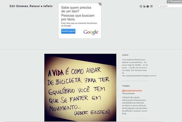Google Adsense como colocar em seu Tumblr e monetizar seu Blog. 5
