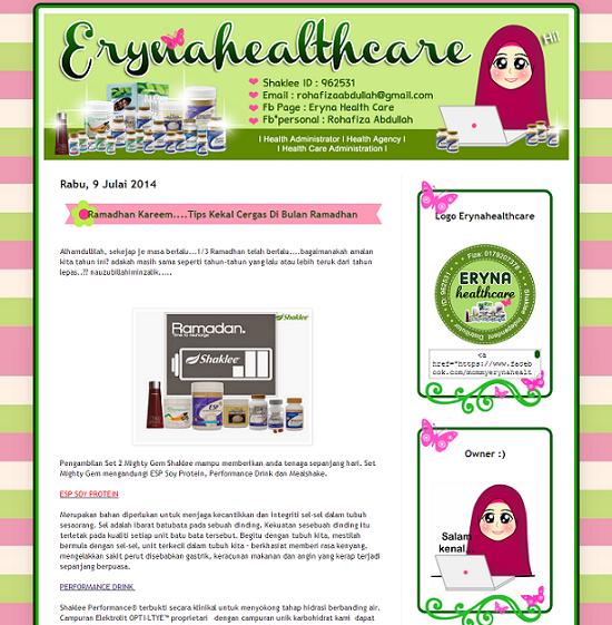 Tempahan : Blog Eryna Health Care