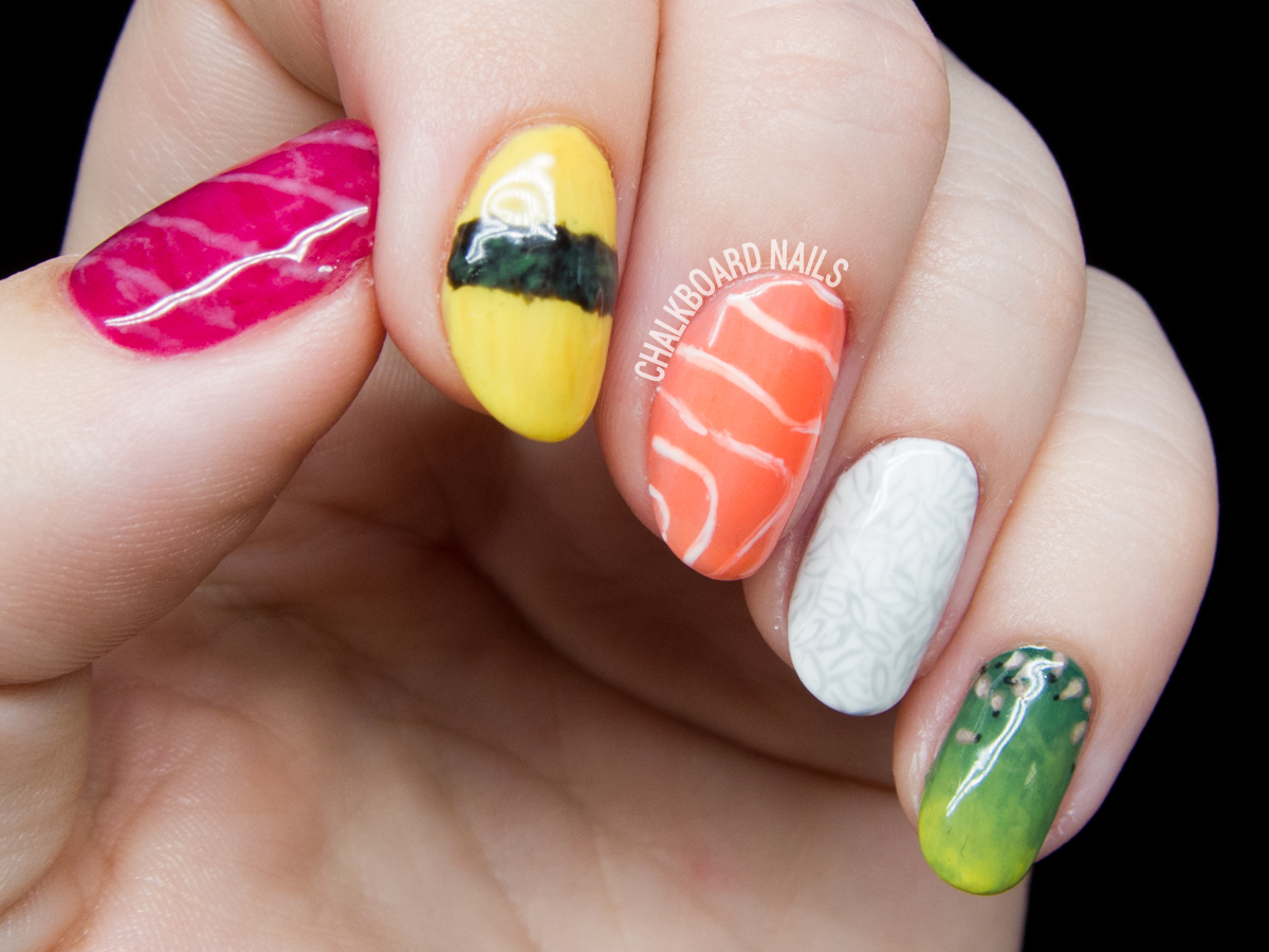 Sushi is Bae Nail Art