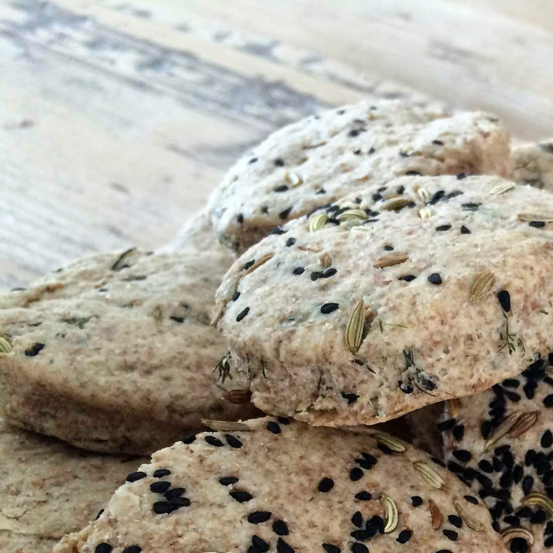 fennel and nigella seeds scones