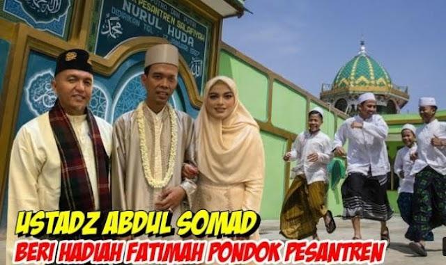 Ustadz Abdul Somad Beri Kado Pernikahan Ke Fatimah Az Zahra |  LihatSaja.com