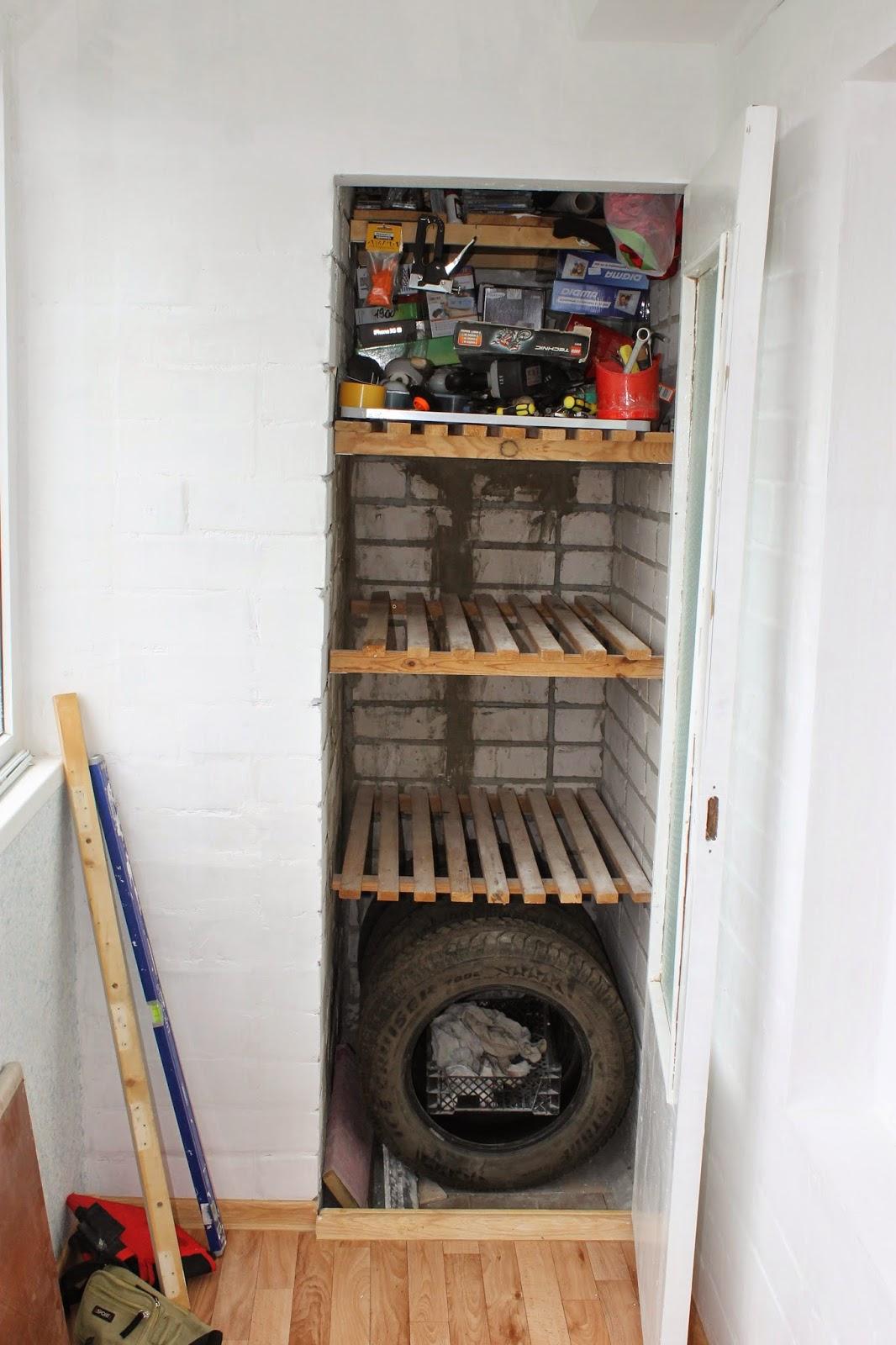 Ремонт своими руками: хранение инструментов на балконе.