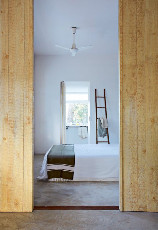 A contemporary summer house in Costa Brava, Spain, via Marie Claire Maison. #country #bedroom