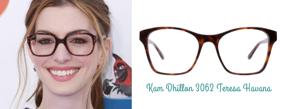 Anne Hathaway lunettes montures Kam Dhillon ClearlyContacts.ca