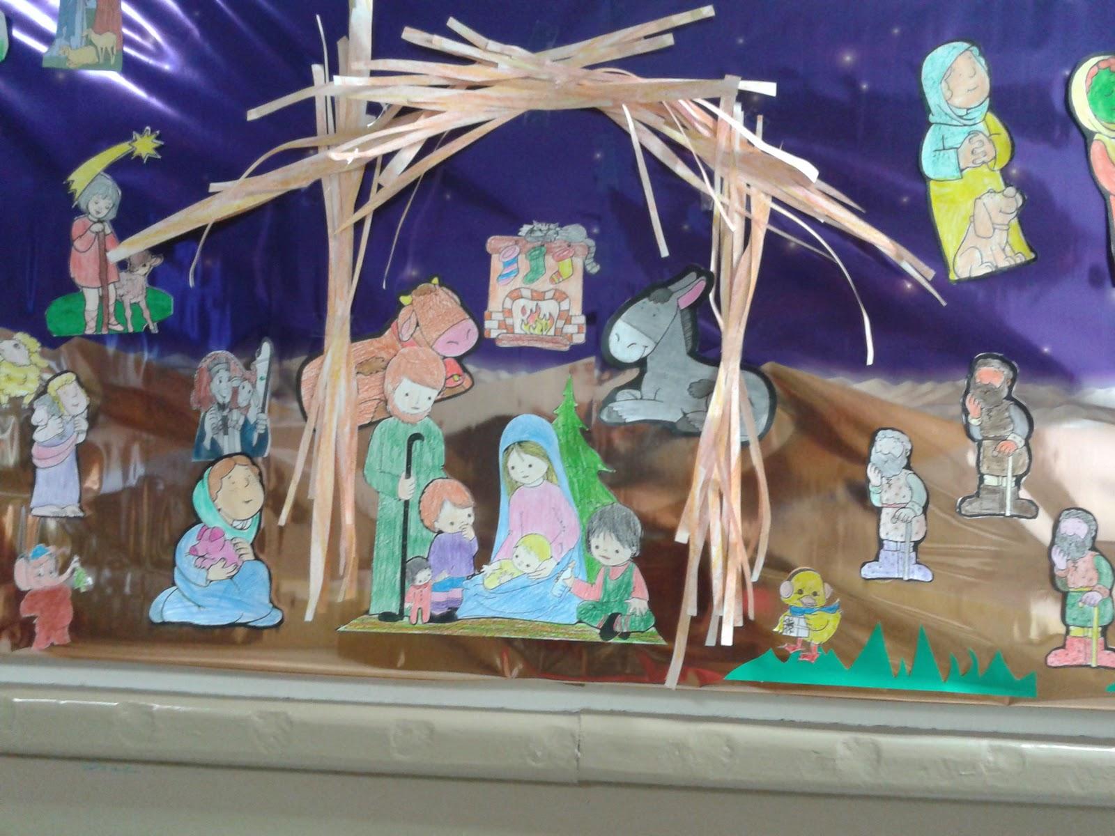 Infantil con alicia mural de navidad - Murales decorativos de navidad ...