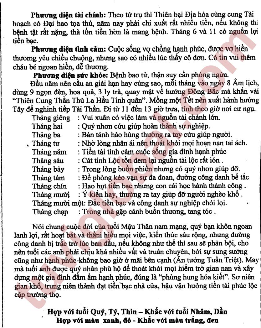Xem Boi Nam 2013 Tuoi Nham Than