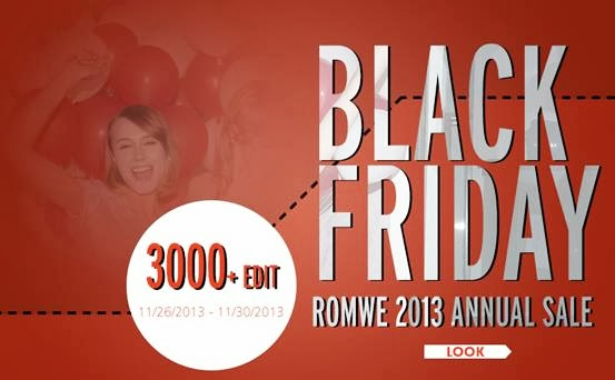 Romwe Black Friday Sale  Up to 75% off, over 3000+ styles