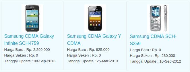 Daftar Harga Hp Samsung CDMA Desember 2015