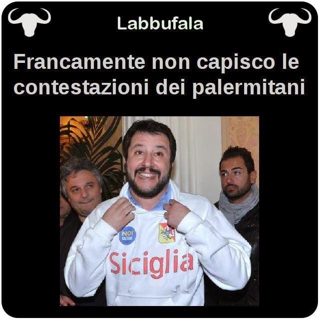Salvini, Lega, Sicilia, Palermo, satira