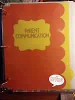 Parent communication Page from Miss, Hey Miss!