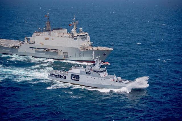 """""""Participación del ARC """"7 de Agosto"""" es todo un éxito contribuyendo a que los mares sean más seguros"""". Comandante de la Fuerza Naval Europea para la Operación """"Atalanta"""""""