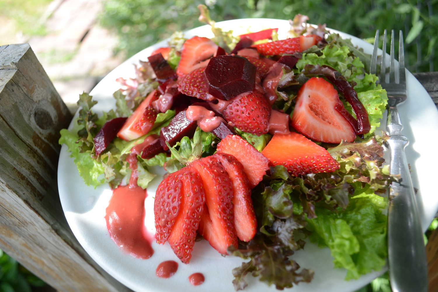 Strawberry and pickled beet salad recipe