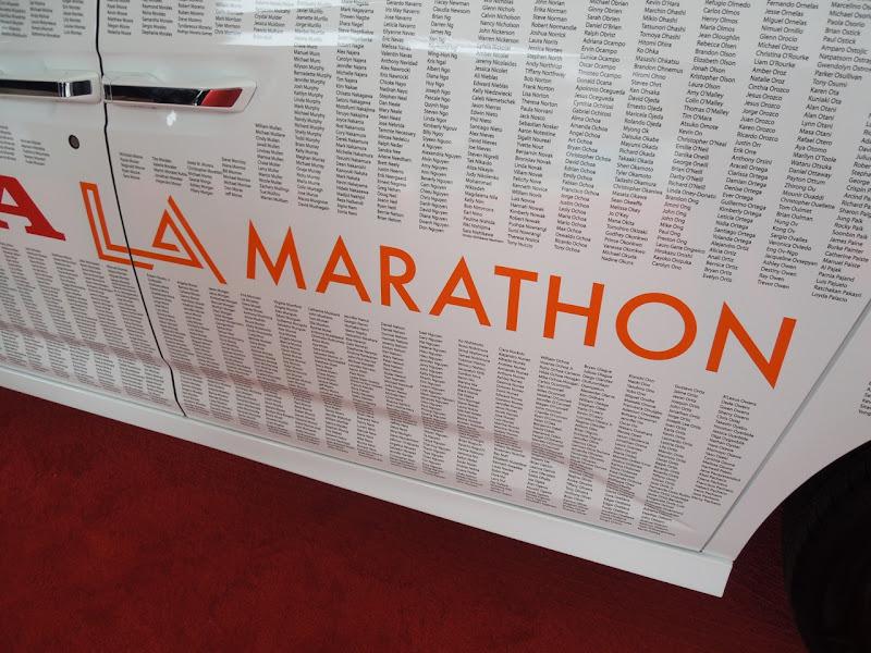 Honda car LA Marathon