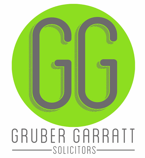 Gruber Garratt, solicitors, lawyers, quality solicitors, letterhead, logos, logo, signprint, sign, type, text, font, green logo, industrial, legal practice, oldham