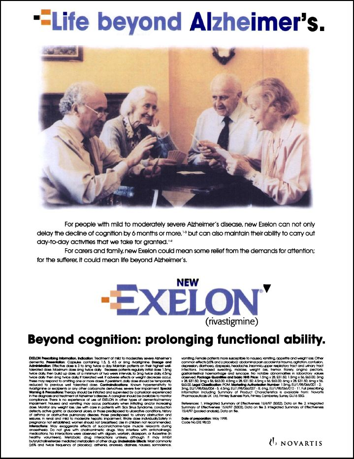 Is exelon a psychotropic