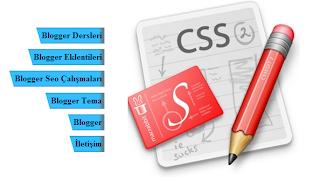 Blogger CSS3 Hareketli Dikey Menü Yapımı
