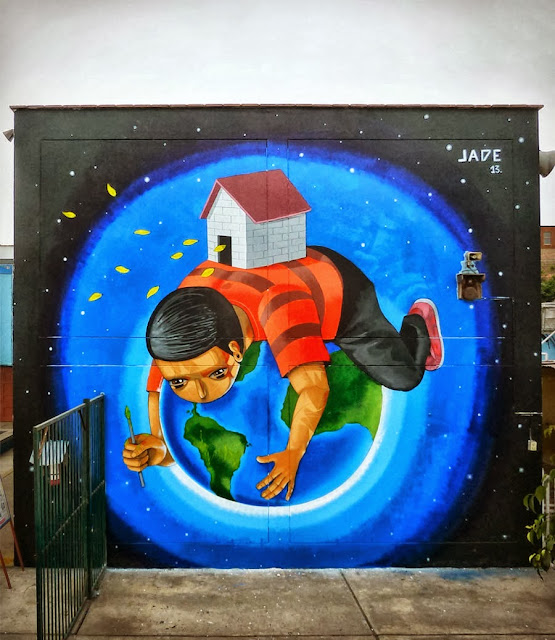 Peruvian Street Artist Jade Paints a New Mural In Barrios Altos, Lima. 6