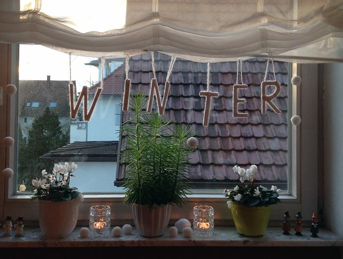 Annettes bunte welt winterdeko - Winterdeko fenster ...