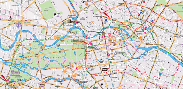 Map Attractions Pdf Download - Berlin map of tourist attractions