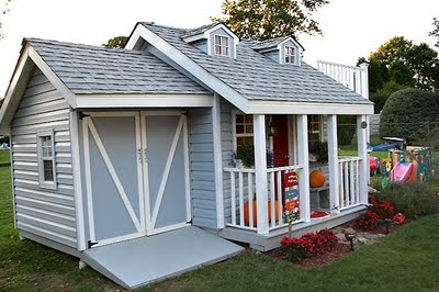 Aplaceimagined Playhouse Complete With Garage