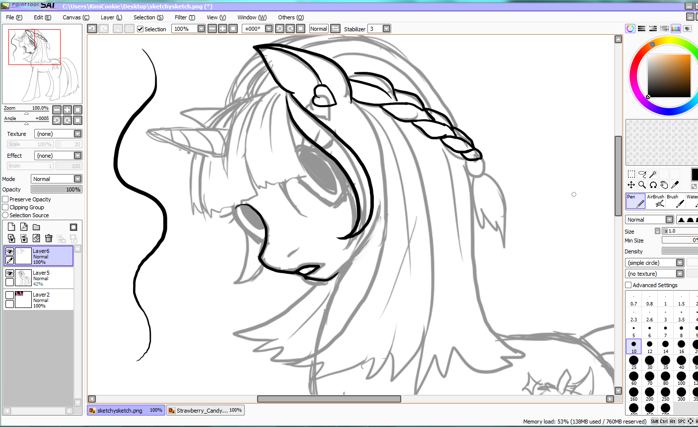 Sai Lineart : Artwork by kimicookie paint tool sai tutorial my little