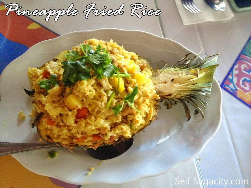 Thai Pineapple Fried Rice In A Pineapple Shell Recipe ...