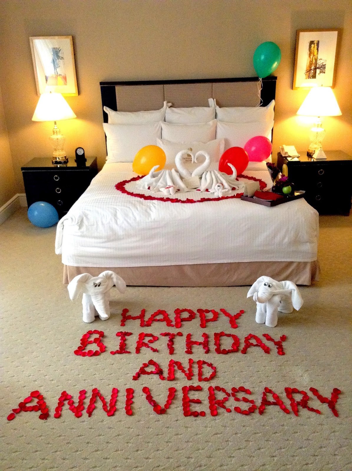 How To Decorate A Hotel Room For A Birthday