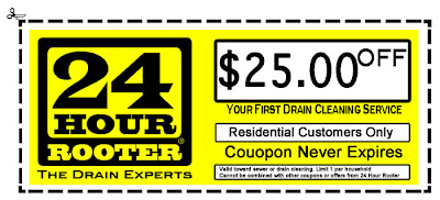 A coupon good for $25.00 off of Yakima Washington plumbing, drain or sewer cleaning