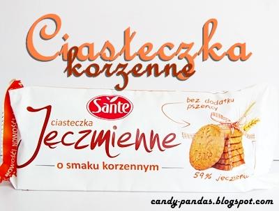 Ciasteczka jęczmienne o smaku korzennym - Sante
