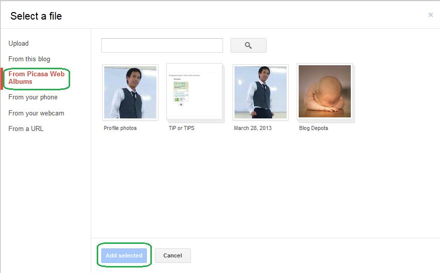 Cara Upload Gambar Artikel Menggunakan Picasa