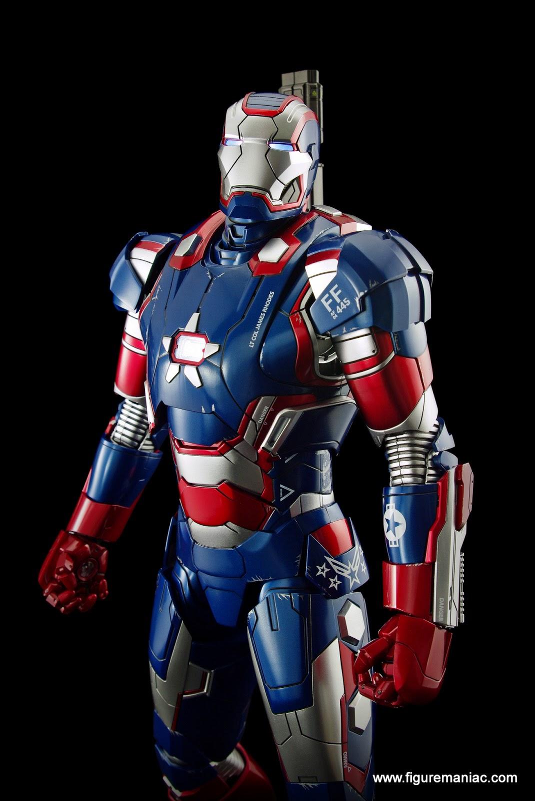 hot toys iron man 3 iron patriot part 1 figure maniac. Black Bedroom Furniture Sets. Home Design Ideas