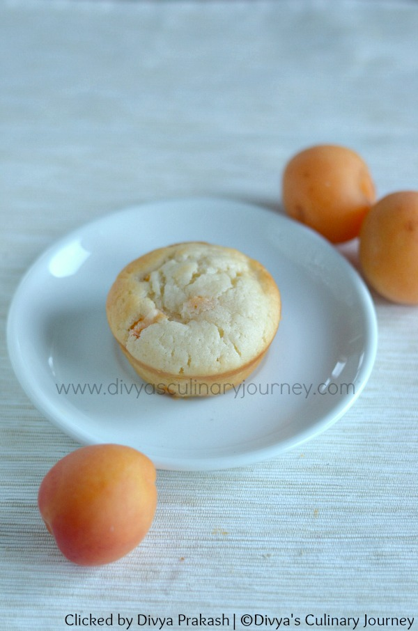 eggless apricot muffins recipe , recipe with fresh apricots