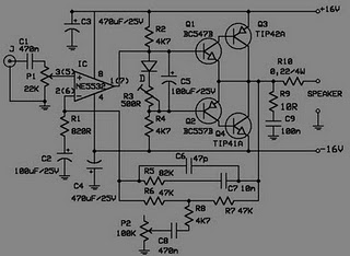 Electronic circuit diagram electro schematic 10w audio amplifier 10w audio amplifier with bass boost electronic diagram asfbconference2016 Gallery