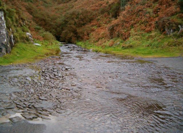 Río que cruza la carretera por encima