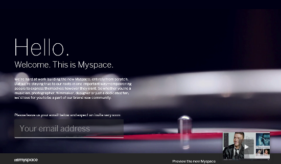 News Myspace beta 2012