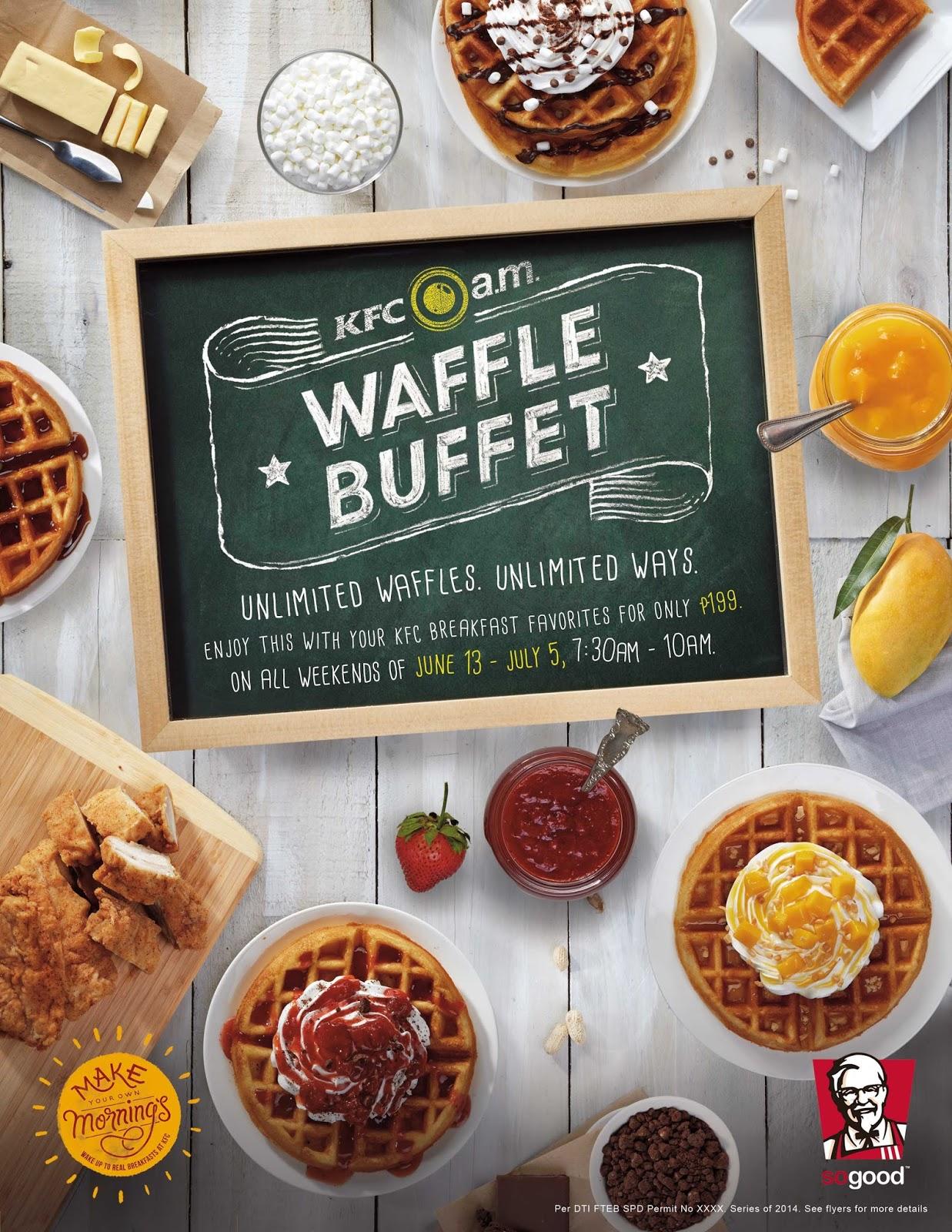 amazing jing for life kfc s new waffle buffet unlimited waffles rh amazingjingforlife blogspot com Breakfast Buffet Menu nearest brunch buffet
