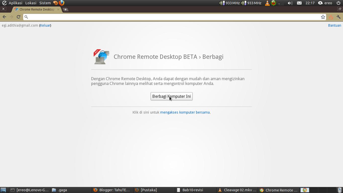 Chrome: Chrome-remote-dekstop