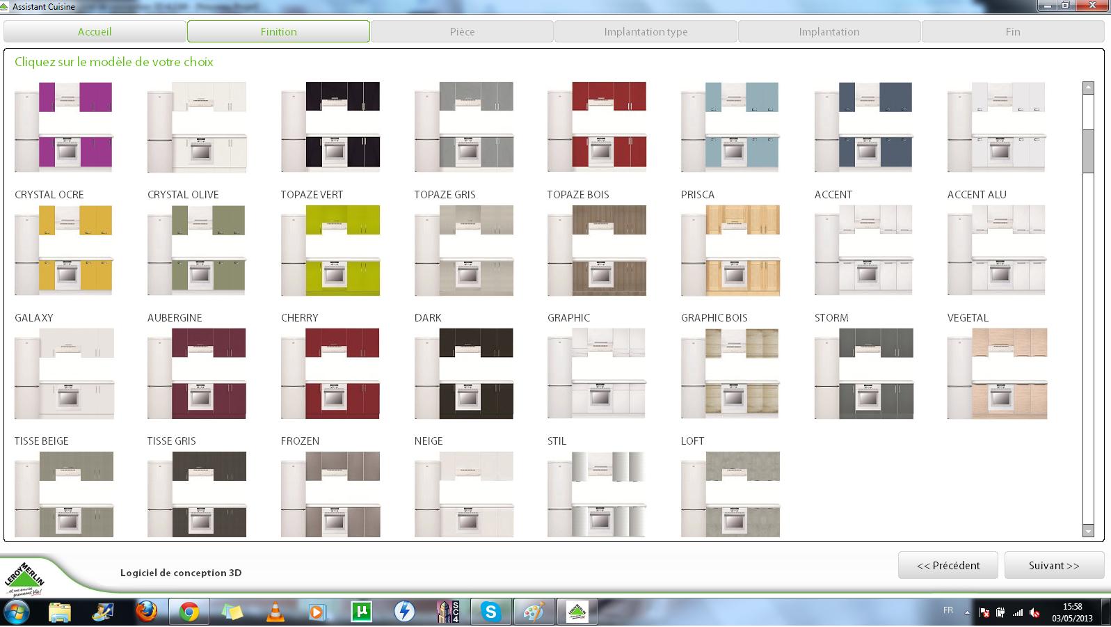 Les 1001 vies de lily les outils de conception cuisine 3d for Cuisine 3d en ligne leroy merlin