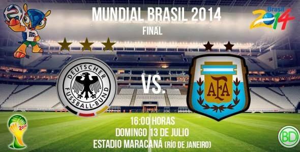 Ver Alemania vs Argentina Final Mundial Brasil 2014