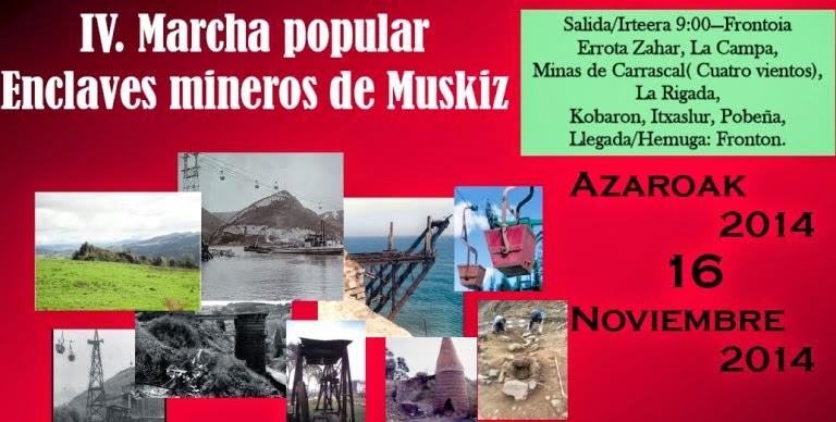 Muskiz organiza su IV Marcha Popular por los Enclaves Mineros del municipio